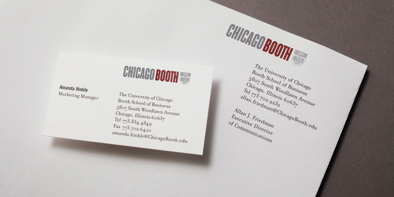 University of Chicago Booth School of Business Stationary by Crosby Associates